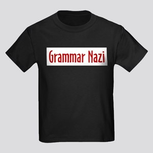 grammar_nazi Kids Dark T-Shirt