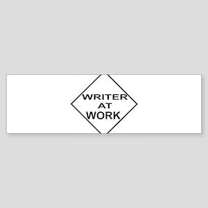 WRITER AT WORK Sticker (Bumper)