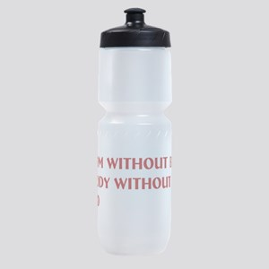 A room without books Sports Bottle
