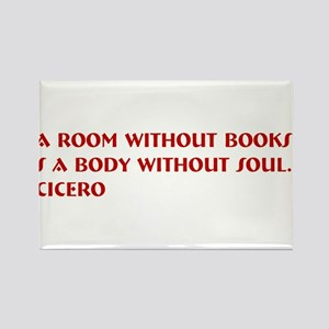 A room without books Rectangle Magnet