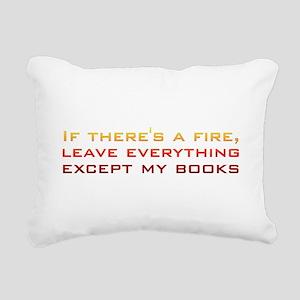 fire_books Rectangular Canvas Pillow