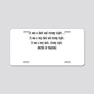 writerintraining Aluminum License Plate