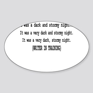 writerintraining Sticker (Oval)