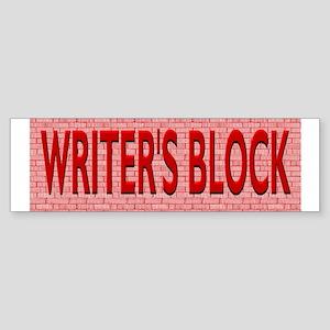 Writers Block Sticker (Bumper)