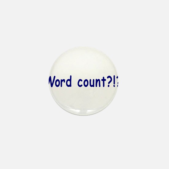 Writing Word Count Mini Button