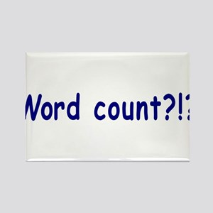 Writing Word Count Rectangle Magnet