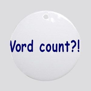 Writing Word Count Ornament (Round)