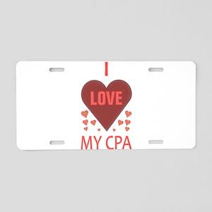 I LOVE MY CPA Aluminum License Plate