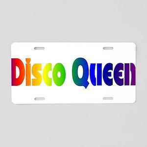 Disco Queen Retro Aluminum License Plate