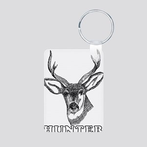 Deer Hunter Hunting Aluminum Photo Keychain