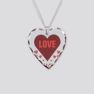 I LOVE GEOCACHING Necklace Heart Charm