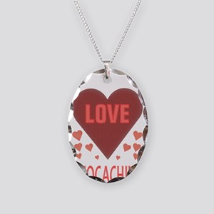I LOVE GEOCACHING Necklace Oval Charm
