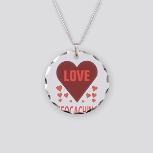 I LOVE GEOCACHING Necklace Circle Charm
