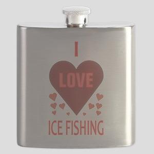 I LOVE ICE FISHING Flask