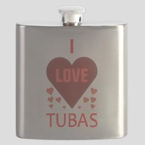I LOVE TUBAS Flask