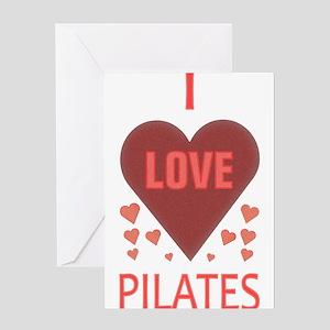 I LOVE PILATES Greeting Card