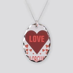 I LOVE COLORGUARD Necklace Oval Charm