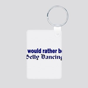 I Love Belly Dancing Aluminum Photo Keychain