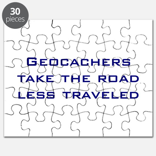 Geocachers take the road less traveled Puzzle