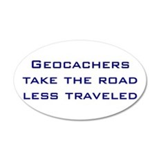 Geocachers take the road less traveled Wall Decal