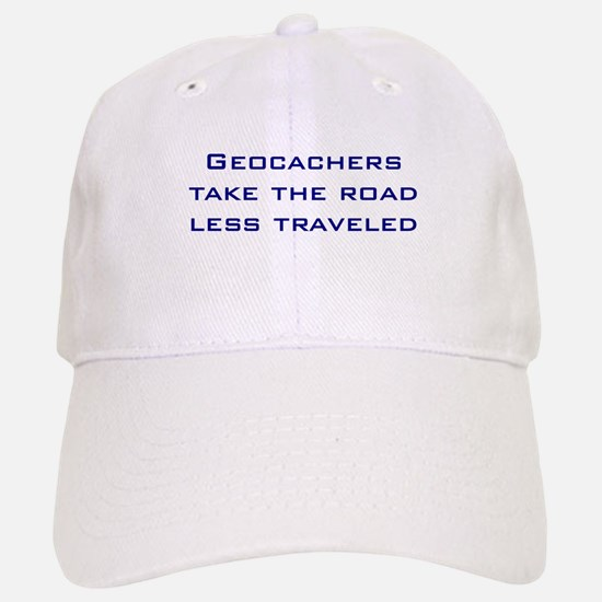 Geocachers take the road less traveled Baseball Baseball Cap