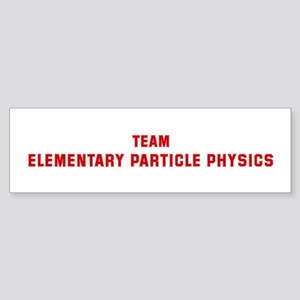 Team ELEMENTARY PARTICLE PHYS Bumper Sticker