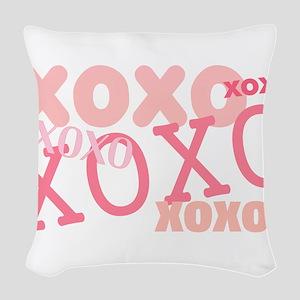 XOXO Hugs and Kisses Woven Throw Pillow