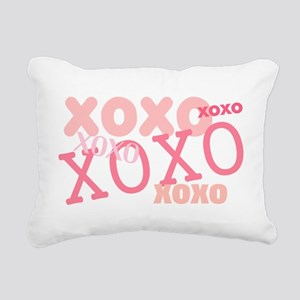 XOXO Hugs and Kisses Rectangular Canvas Pillow