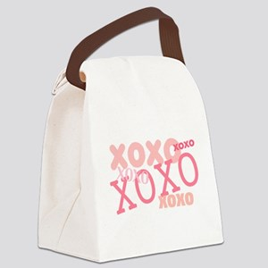 XOXO Hugs and Kisses Canvas Lunch Bag