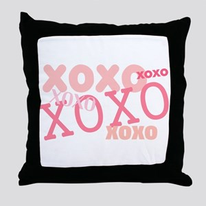XOXO Hugs and Kisses Throw Pillow