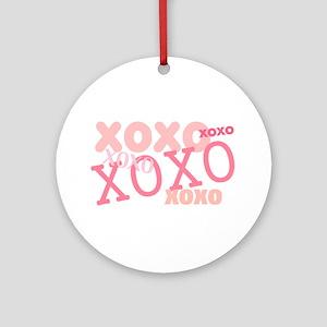 XOXO Hugs and Kisses Ornament (Round)