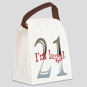 Im Legal and 21 Canvas Lunch Bag