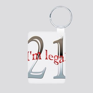 Im Legal and 21 Aluminum Photo Keychain