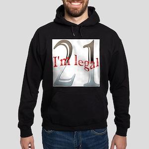 Im Legal and 21 Hoodie (dark)