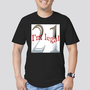 Im Legal and 21 Men's Fitted T-Shirt (dark)