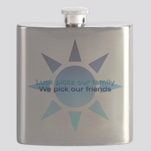 Friendship We Pick Our Friends Flask