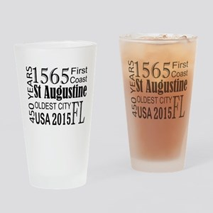 St Augustine 450 years Drinking Glass