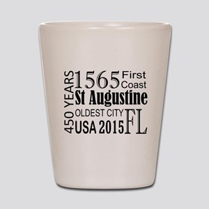 St Augustine 450 years Shot Glass