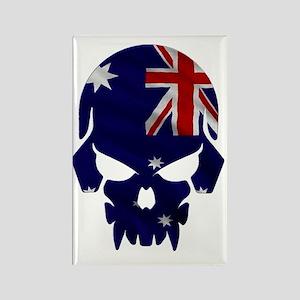 Australian Flag Skull Rectangle Magnet