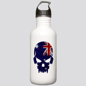 Australian Flag Skull Stainless Water Bottle 1.0L