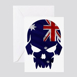 Australian Flag Skull Greeting Card