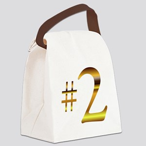 Number 2 Canvas Lunch Bag