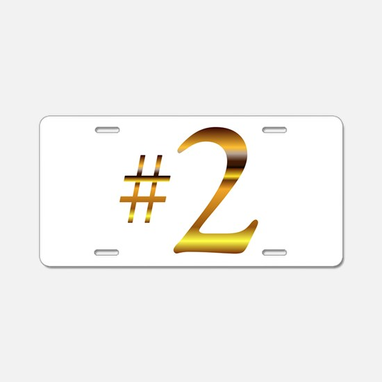 Number 2 Aluminum License Plate