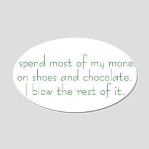 Shoes and Chocolate 20x12 Oval Wall Decal