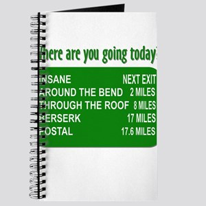 Where are you going today? Journal