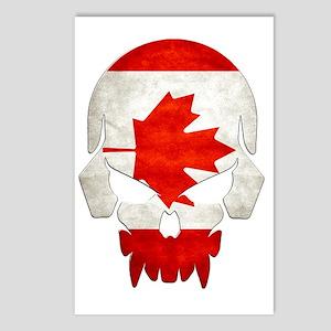 Canadian Flag  Skull Postcards (Package of 8)