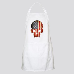 American Flag Skull Apron