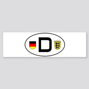 cardecal-land_bw Bumper Sticker