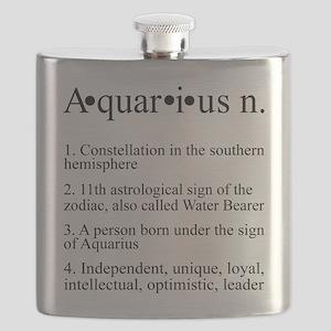 Astrology Aquarius Defined Flask