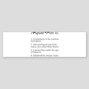 Astrology Aquarius Defined Sticker (Bumper)